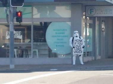 """Zatrąb, jeśli kochasz Lorda Vadera"""