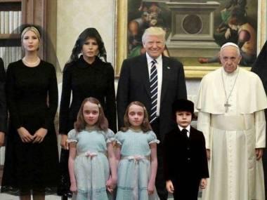 Trumpowie z wizytą u papieża