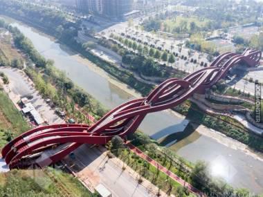 185-metrowy most Lucky Knot w chińskim mieście Changsha