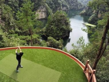 Tor golfowy wymagający precyzji