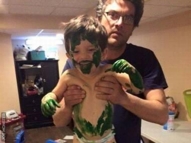 Chciał być jak Hulk