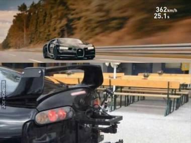 Jak nakręcono reklamówkę najszybszego samochodu świata z ujęcia od przodu?
