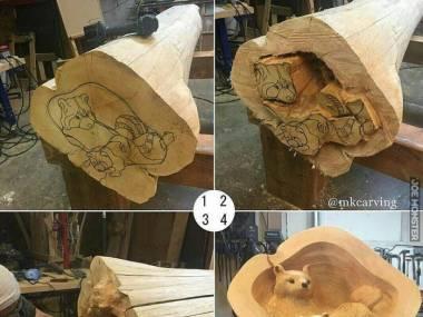 Wyrzeźbione w drewnie