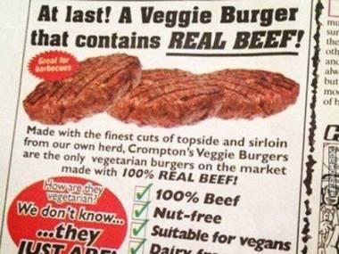 Nareszcie! Wegański burger, który zawiera prawdziwa wołowinę