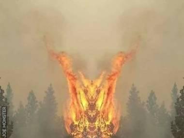 Odbicie lustrzane pożaru w Kalifornii