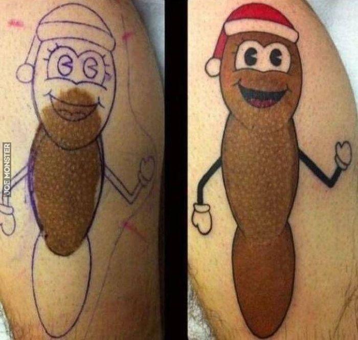 Znamię Zakryte Przez Tatuaż Joe Monster