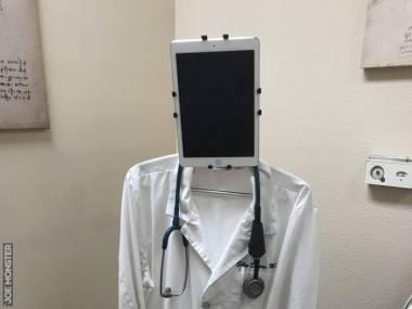 Pan doktor pracuje dzisiaj z domu