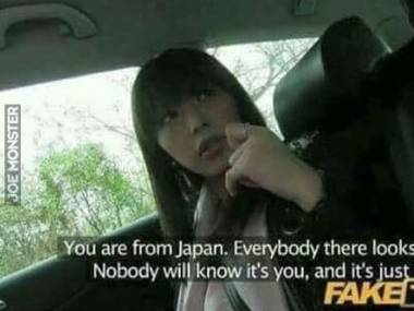 Jesteś z Japonii. Wszyscy tam wyglądają tak samo. Nikt cię nie rozpozna