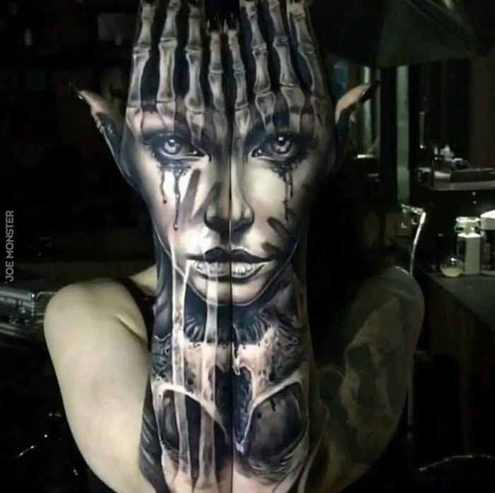 Upiorne Tatuaże Joe Monster