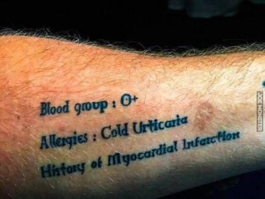Jeden z tych tatuaży, które mogą uratować życie