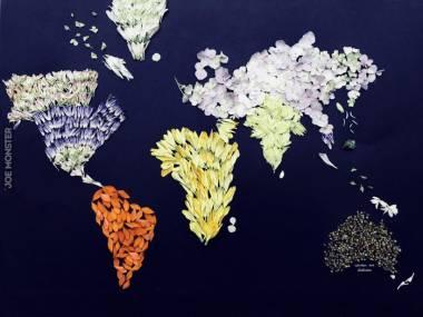 Mapa świata wykonana z okazji Dnia Ziemi
