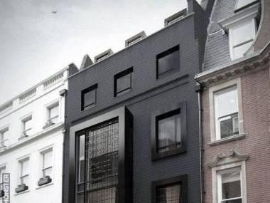 Budynek w czerni