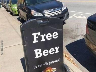 Darmowe piwo to nasze hasło do WiFi