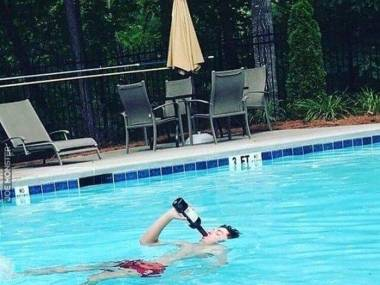 Mega relaks w basenie