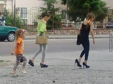 Buty matce zakosiła