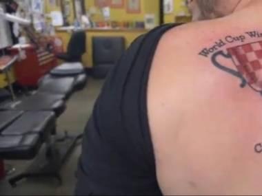 W sobotę przed finałem była promocja na tatuaże