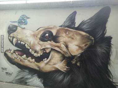Mural znaleziony w Belgii