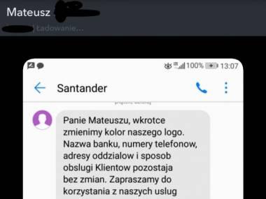 Rozmowa Mateusza z Santanderem