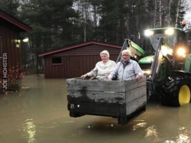 Uratowani z powodzi