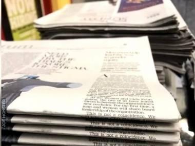 To nie przypadek, że gazety zostały ułożone w taki sposób