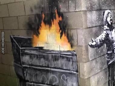 Najnowsza praca Banksy'ego, chyba dotyczy również Polski