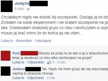 Justyna z grypą