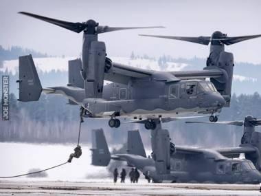 Dwa V-22 Ospreye odwiedziły lotnisko Nowy Targ
