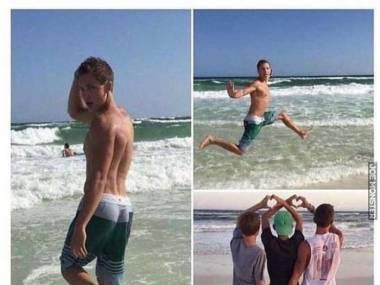 Jak dziewczyny robią zdjęcia na plaży