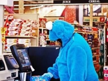 Ciasteczkowy potwór na zakupach