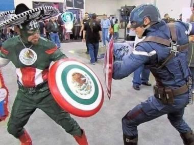 Pojedynek na śmierć i życie - Kapitan Ameryka kontra Kapitan Meksyk