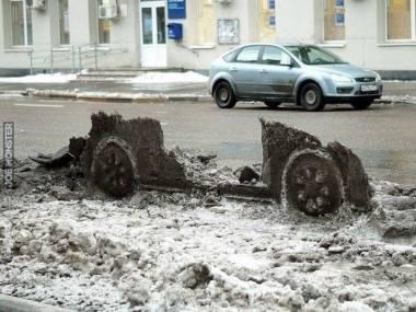 Kto zgadnie, jaki samochód tu stał?