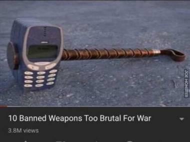 Zakazanych broni, zbyt brutalnych, aby uzyć ich podczas wojny
