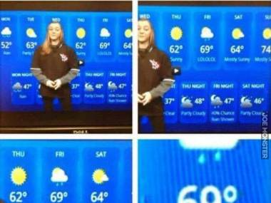 Śmieszek z prognozy pogody