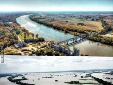 Rzeka Arkansas wylała