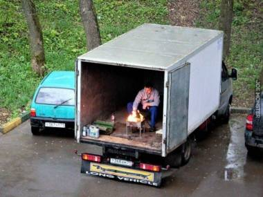 Jak grillować w czasie deszczu