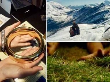 Ogromny pierścień, który był używany jako rekwizyt w niektórych scenach Władcy Pierścieni, aby uwydatnić perspektywę
