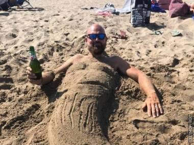 Syrenka spotkana na plaży